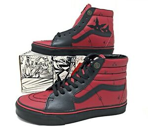 Vans-SK8-Hi-Marvel-Deadpool-Limited-Edition-Black-Red-Mens-Shoe-SZ-VN-0A38GEUBJ