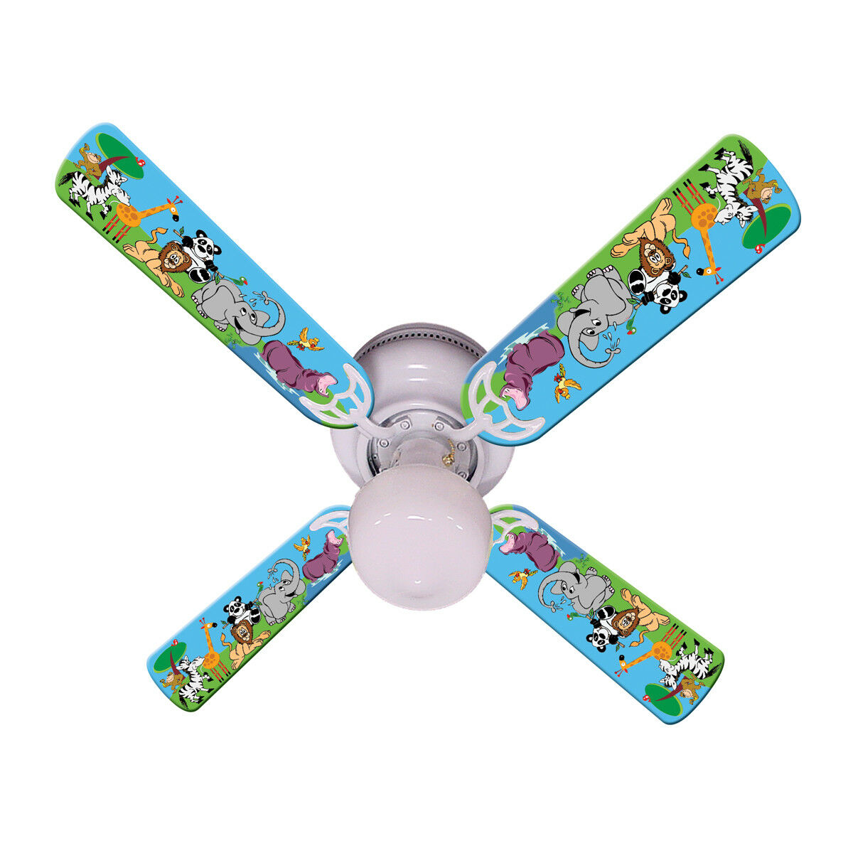 New BABY KIDS JUNGLE PARTY ANIMALS Ceiling Fan 42