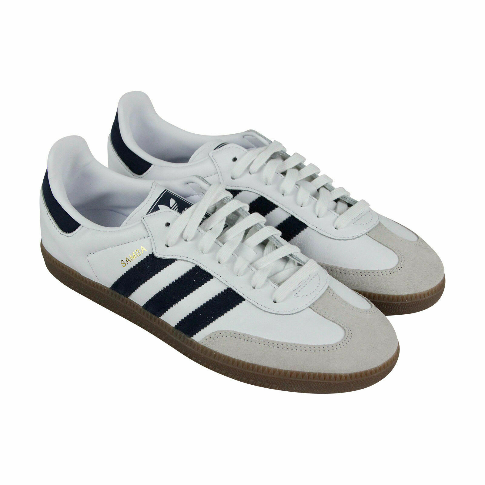 Adidas Samba OG Mens White Leather Lace Up Sneakers shoes