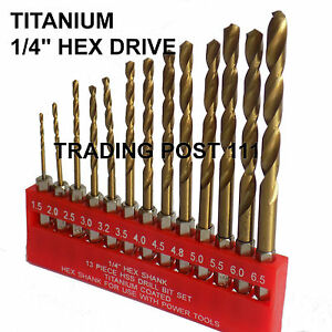 Neilsen-HSS-Titanium-Coated-Hex-Shank-Drill-Bit-13pc-High-Speed-Steel-10A