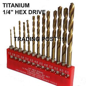 Neilsen-HSS-Titanium-Coated-Hex-Shank-Drill-Bit-13pc-High-Speed-Steel-10A