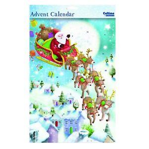24 Windows Christmas Countdown Sticker Advent Calendar 394614 Santa