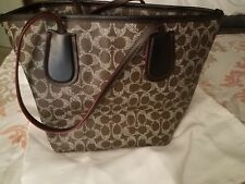 Coach Signature Leather Taxi Zip Top Tote 34415 Saddle Glow Pink ... 5e3fbd8352813
