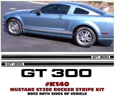 N360 FORD MUSTANG LOWER ROCKER SIDE STRIPE KIT MUSTANG GT NAME LICENSED