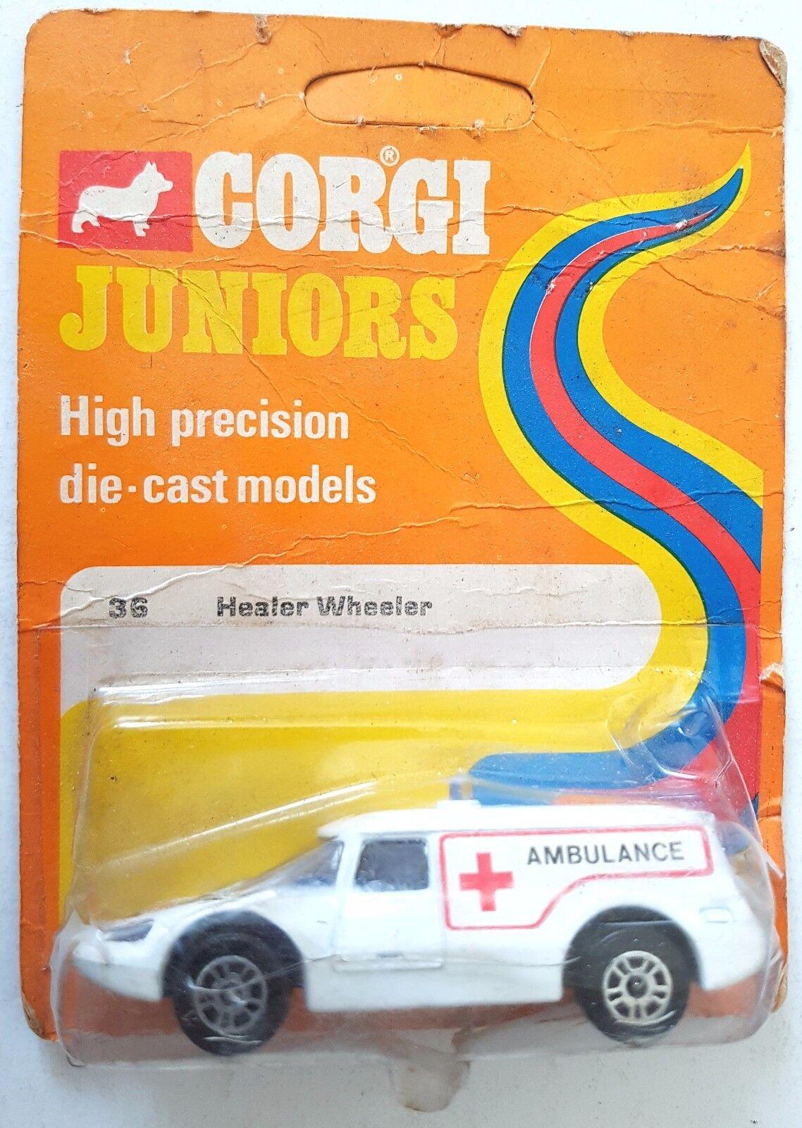 '73 CORGI Juniors 36 HEALER WHEELER AMBULANCE Diecast Model Car Car Car on Original Card 52d78c