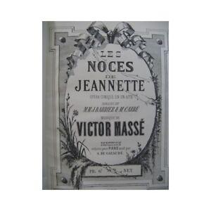 Masse Victor Die Hochzeit Von Jeanette Opéra Piano Solo 19 Partitur Sheet Music Verhindern Den Teint Zu Erhalten Dass Haare Vergrau Werden Und Helfen