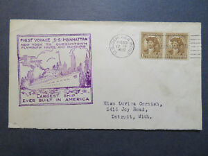 US-1932-SS-Manhattan-Cacheted-Paquebot-Cover-Z7956