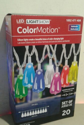 LightShow ColorMotion Clear Edison Style Bulbs Light string 20 Christmas Lights