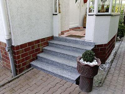 Treppe Aussen Haus Eingang Podest Naturstein Granit Beton Stufe Setz
