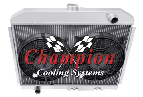 "3 Row Rockin Champion Radiator W// 2 12/"" Fans for 1972 73 74 75 1976 AMC Gremlin"