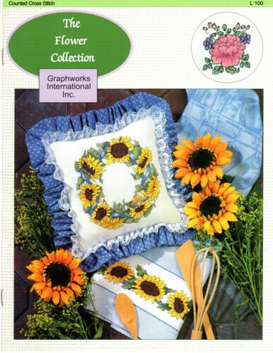 more counted cross stitch charts GRAPHWORKS Floral,Stitcher YOUR CHOICE-new
