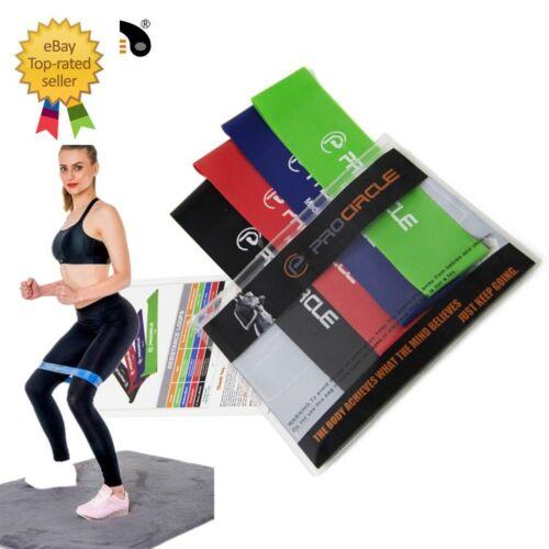 ProCircle Resistance Bands 4 Levels Set Latex Gym Strength Training Rub Fittness