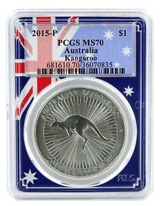 2015-Australia-1oz-Silver-Kangaroo-PCGS-MS70-Flag-Frame