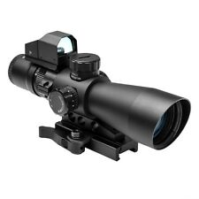 NcStar STM3942GDV2 Mark III Tactical Mil-Dot 3-9X42 Scope with Red Dot Sight