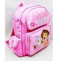 Dora The Explorer 14 Medium Backpack School Bag- Dora & Boots Pink
