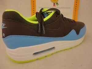9cb60b95d3 Nike Air Max 1 Essential, Baroque Brown / University Blue / Volt ...