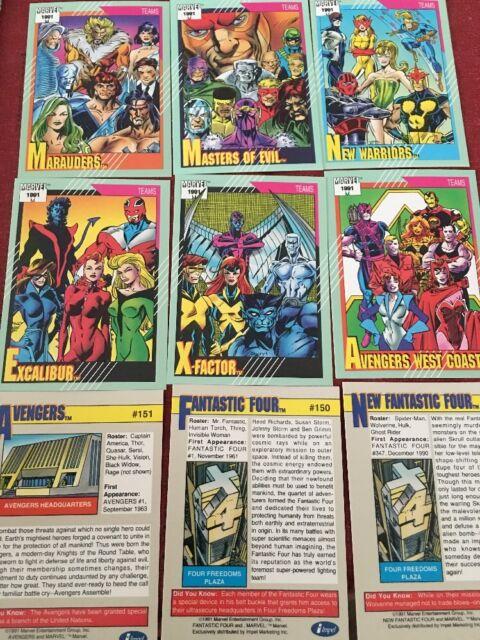 1991 MARVEL UNIVERSE SERIES 2 SINGLES 2-161 U-PICK  3 CARDS