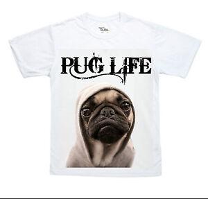 Carlin Vie matière t shirt homme Pugs Chiens drôle Top