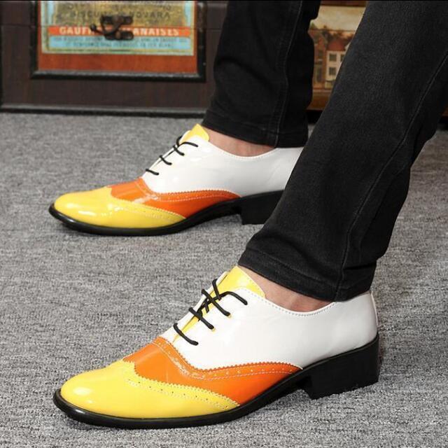 Men DERBY BROGUE oxfords elegant brown leather shoes Italian GIORGIO REA 7528MA