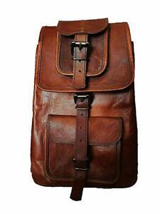 Stylish-Handmade-Leather-Messenger-Backpack-Rucksack-Real-Genuine-Vintage-bag