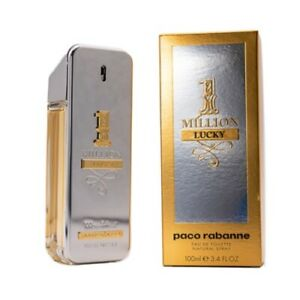 1-Million-Lucky-by-Paco-Rabanne-3-4-oz-EDT-Cologne-for-Men-New-In-Box
