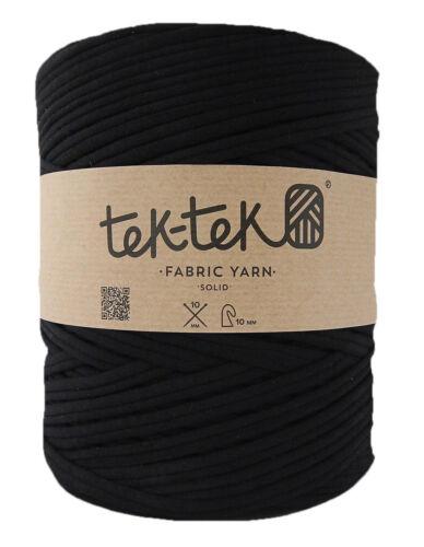 Super Chunky Yarn Black t-shirt yarn Tek-Tek Large 100m+ Bobbin