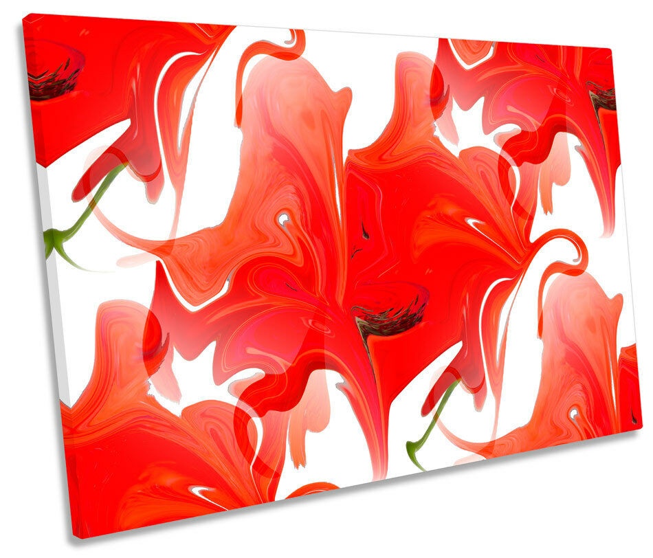 Abstract Floral Floral Floral Design SINGLE CANVAS WALL ART Picture Print 29690f