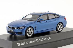 BMW-SERIE-4-Gran-Coupe-blu-rivenditore-ufficiale-1-43-scala-del-modello-auto-nuova-regalo