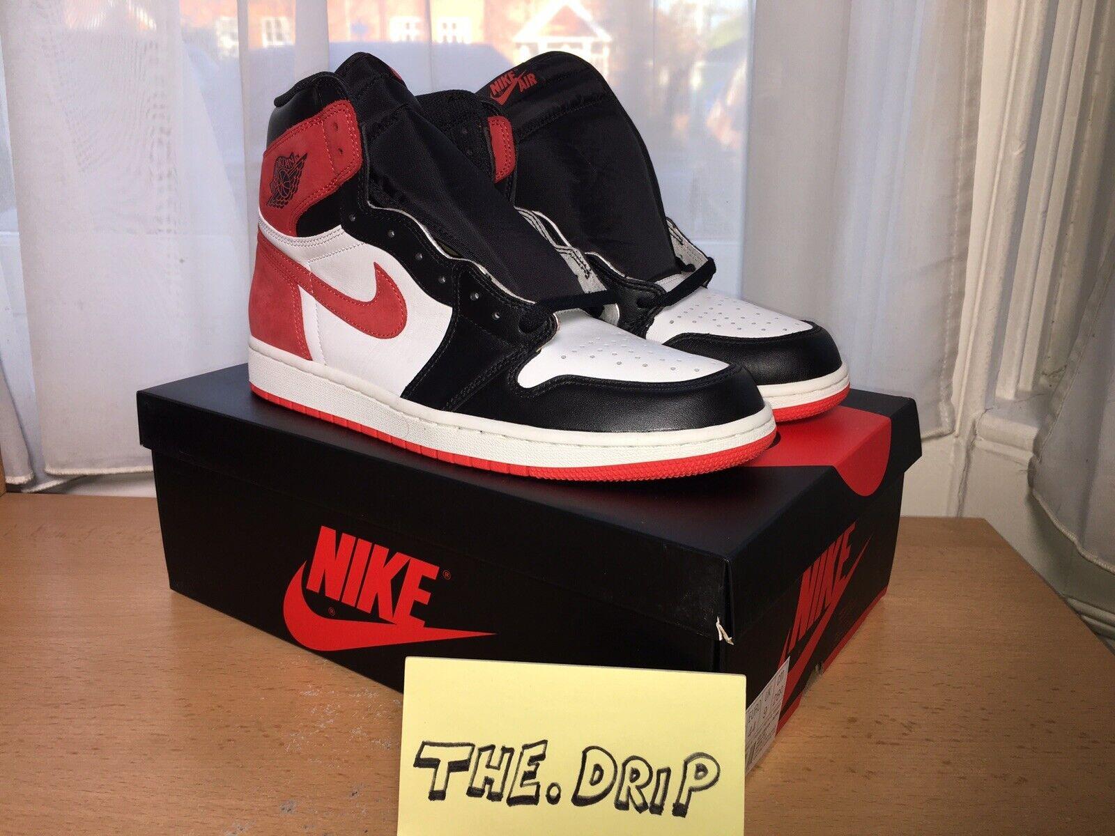 80f7b2fb95 NIKE Air Jordan 1 Retro Hi BHTG Track Red UK9. Nike Air Max 90 ...