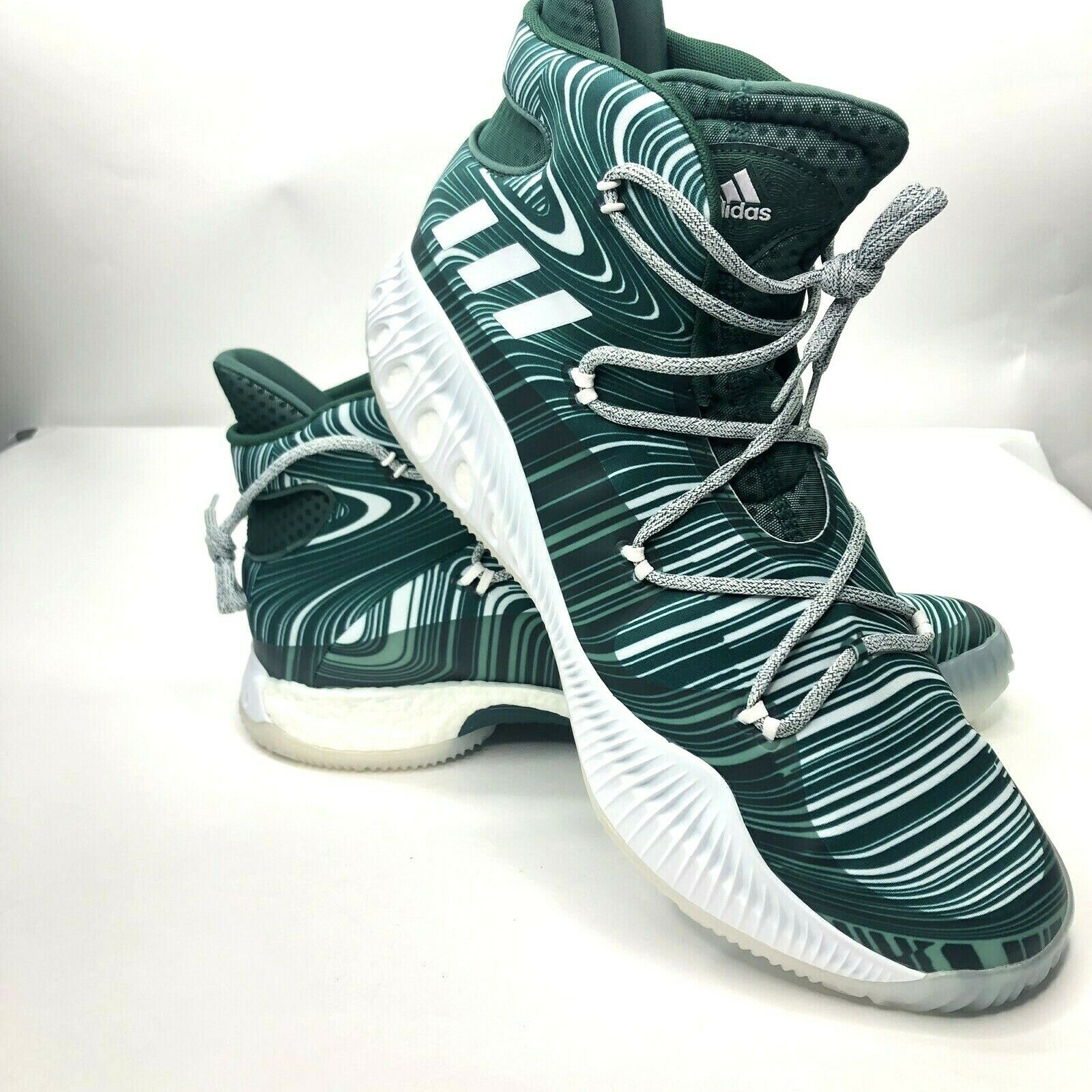 Adidas Men's Crazy Explosive Boost B38869 Basketball Green Sneakers SZ 18 New