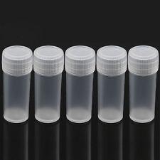 10Pcs Mini Plastic Sample Bottle 5ml Small Bottle Vial Storage Container NEW
