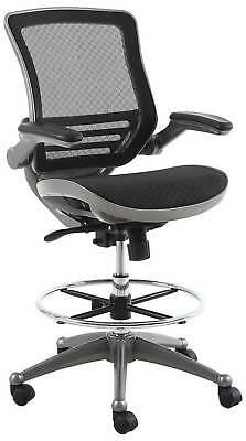 harwick evolve all mesh heavy duty drafting chair in gunmetal finish