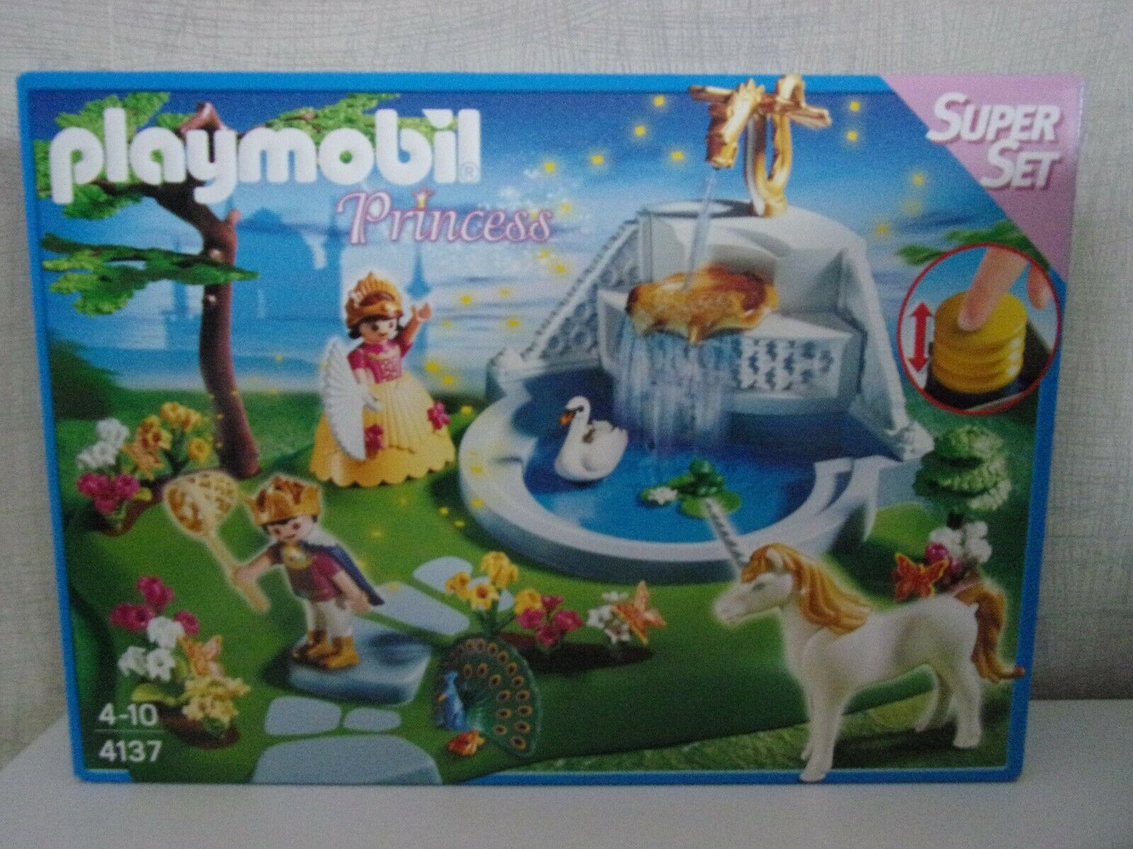 Playmobil Dream Castle Dragon Figurine Fountain Gold from 4137 4008 Spare Part