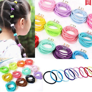 100-Colorful-Baby-Kids-Girl-Elastic-Tiny-Hair-Tie-Band-Rope-Ring-Ponytail-Holder