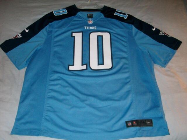46ac46c28 Jake Locker 10 Tennessee Titans NFL Blue Nike On Field Jersey Men s 3XL used