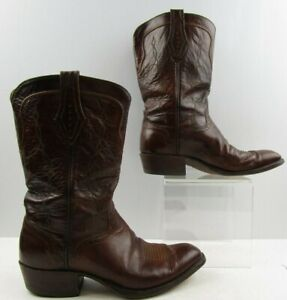 58292569074 Details about Men's El Dorado Brown Leather Snip Toe Western Cowboy Boots  Size: 8.5 D
