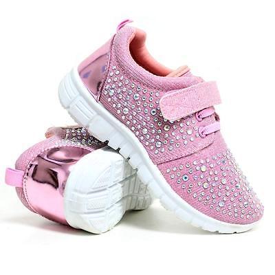 Girls Running Zapatillas Nuevo Niños Amortiguador Escuela Deportes Moda Zapatos Talla