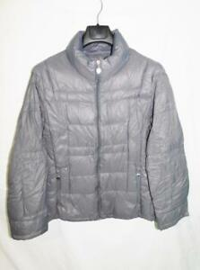 Calvin-Klein-XL-Gray-Down-Coat-Lightweight-Packable-Full-Zip-Mock-Neck-Jacket-XL