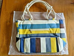 """Shoulder bag, purse, tote, multicolor stripe, 18""""x12""""x6"""", BRAND NEW"""