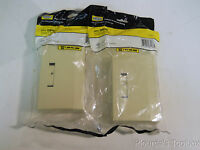 Lot Of (2) Hubbell Ivory 4 Port Surface Mount Housing Boxes, Ism4ei