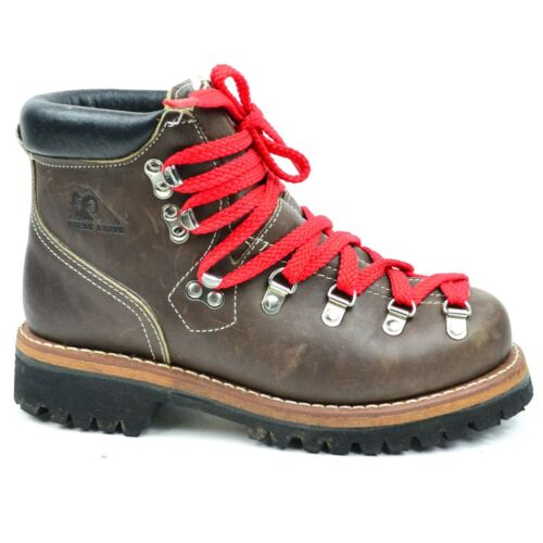 Rocky Boots Men's Size 8 Brown Leather Red Shoelac