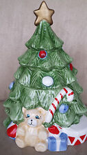 VINTAGE 1950's-1960's CERAMIC CHRISTMAS TREE COOKIE JAR Republic of China