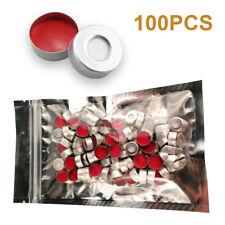 100pcs 20mm Crimp Top Aluminium Caps Ptfesilicon For 10ml20ml Headspace Vial