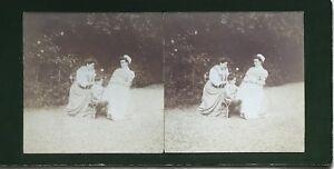 Il-Giardino-Foto-Stereo-Amateur-snapshot-n29-Vintage-Citrato-c1900