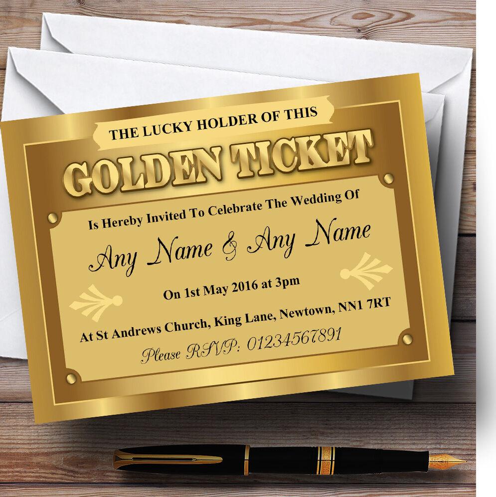 oroen Ticket Personalizadas Invitaciones De Boda