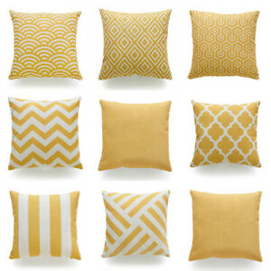 Details About 18x18 Yellow Accent Throw Pillow Cover Sofa Couch Bed Home Decor Cushion Case