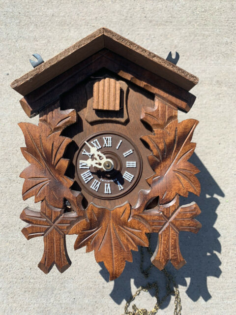 Robert Lotscher Black Forest Cuckoo Clock Switzerland FOR PARTS NOT TESTED
