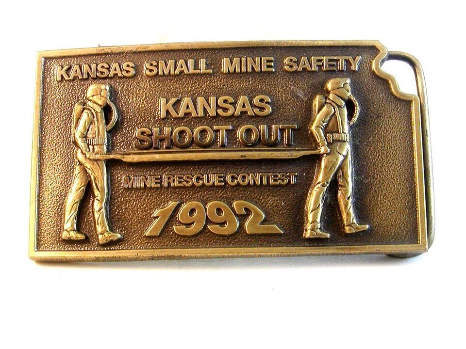 1992 Kansas Klein Mine Sicherheit Shoot Out Gürtel Buckle