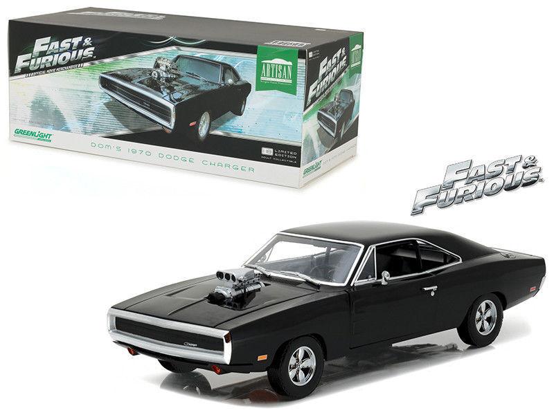 verdelight 1 18 Artisan Collection Rápido y Furioso Dom's 1970 Dodge Cargador