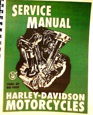 1940-1947 Harley-davidson Service Man.ohv 61cu #1000 74cu-1200 Sv 74-1200 80 13c